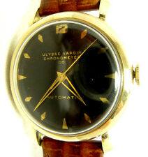 VINTAGE NICE CONDITION ULYSSE NARDIN 10K GOLD FILLED  AUTOMATIC MEN'S WATCH
