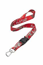 Realtree APC Red Camo Neck Lanyard With Detachable Key Ring & Carabiner