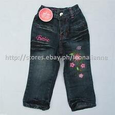 60% OFF! AUTH BARBIE GIRLS' DENIM PANTS SIZE 1 / 1-2 yrs BNWT P549.75