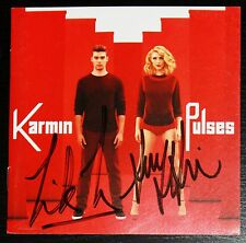 KARMIN Autographed PULSES CD Album Booklet! SIGNED NEW Amy Heidemann Nick Noonan