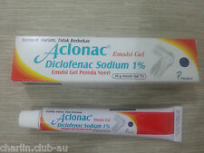 Aclonac Gel Diclofenac Anti Inflammation for Muscle Pains Reduce Swelling 20gr
