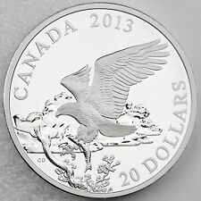 Canada 2013 $20 Bald Eagle Returning From the Hunt Proof 1 oz. Pure Silver