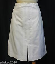 J CREW A-LINE SKIRT IN BI-STRETCH COTTON VANILLA WHITE SIZE 8 NWT B8273