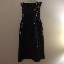 Saks Fifth Avenue sequin black tube top dress, Size S