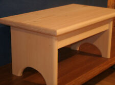 """wood step stool , rustic wooden step stool wooden stool, 7 1/2"""" unfinished"""