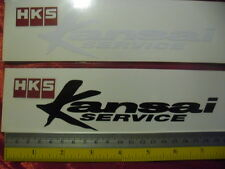 2 HKS Kansai service di-cut sticker decals.JDM aftermarket racing sponsor