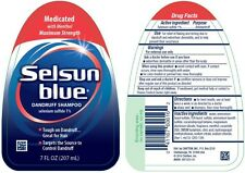 Selsun Blue Dandruff Shampoo Medicated 7 oz