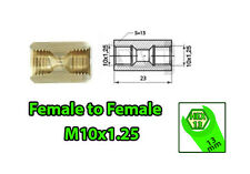 Brake Line Pipe Brass Inline Female Fitting Connector Coupler M10x1.25 Adapter