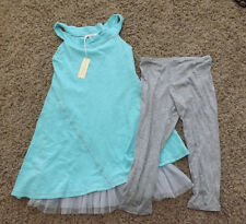 NWT Luna Luna Copenhagen Outfit Size 6X 6 X Aqua Tulle Dress with Leggings