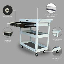 206 US PRO TOOLS TOOL CART BOX WORK BENCH TROLLEY WORKSTAION WHITE WITH BLACK