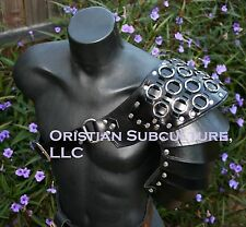 Single Leather Ring Mail Spaulder Armor Ren SCA articulated pauldron cosplay