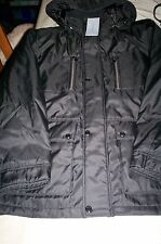 NWT! $225 ANDREW MARC NEW YORK MENS HOODED QUILT LINED COAT/JACKET-BLACK-LARGE