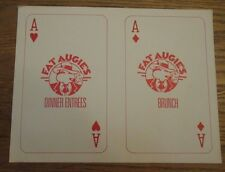 Fat Augie's Dinner Entrees and Brunch Menus Geneseo, NY  (6 total) thick stock