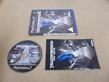 PS2 Playstation 2 Pal Game TRANSFORMERS THE GAME with Box Instructions