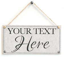 Your Text Here (Classy Traditional Design) - Custom Personalised Wooden Sign