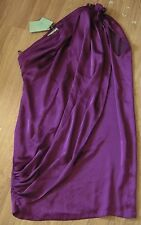 BNWT Almost Famous dress size 10 asymmetrical purple evening party