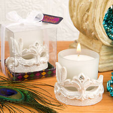 25 Mardi Gras Candle Mask Bridal Shower Wedding Party Event Favor Bulk Lot