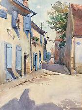 Provence Cassis aquarelle signée Pierre-Anne Dumenil datée de 1979