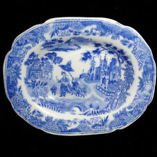 MINTON Pearlware Childs Platter QUEEN OF SHEBA 1830 Staffordshire Chinoiserie