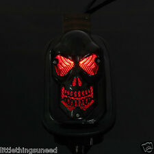 2x,Motorcycle,custom,black,skull,stop,Taillight,chop,trike,vw,baja,buggy,project