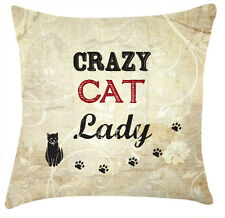 Crazy cat lady quirky cushion