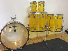 "LUDWIG VINTAGE YELLOW VISTALITE 22"" Bass, 13"" Tom 16. & 18"" Floors 1974"