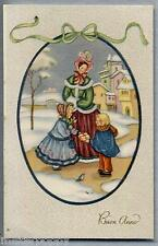 Buon Anno Bambini Doni New Year Childrens Fable PC Circa 1940
