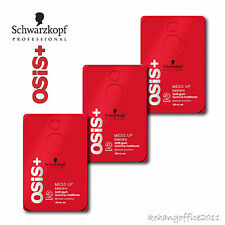 3X Schwarzkopf OSiS+ Mess Up Hair Wax Clay Texture Matt Gum Paste