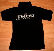 RARE MARVEL THOR THE DARK WORLD THEATER PROMO POLO SHIRT SMALL S BLACK CINEMARK