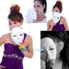 New White Full Face Theatrical Party Masquerade Mask Costume Mardi Gras Masks #A