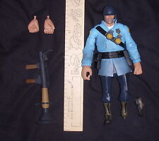 """Team Fortress 2 The Soldier BLU Team Action Figure damaged 7"""""""