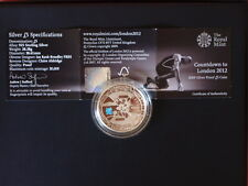 2012 London Olympics Silver Proof Countdown £5 Five Pounds Crown Coin-2009
