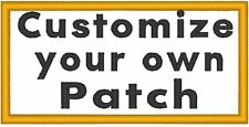 "Custom Embroidered 4""x 4"" Name Tag 3 LINES Iron-on Patch  MC Biker Emblem #09"