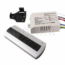 Wireless 4 Channel Ceiling lamp Light ON/OFF Remote Control Switch Controller