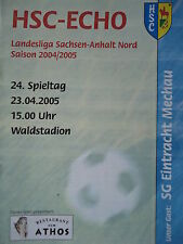 Programm 2004/05 Haldensleber Sportclub - Eintracht Mechau