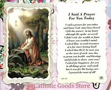 I said a prayer for you today - Scalloped trim - Paperstock Holy Card