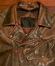 FIRST GEAR HEIN GERICKE CHIEF MOTORCYCLE BIKER LEATHER JACKET MENS XL X-LARGE