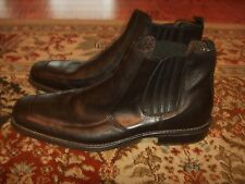 Skechers Collection Made in Italy Leather Chelsea Boots Black Mens Size 13M
