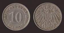 GERMANIA GERMANY 10 PFENNIG 1908 J