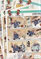 Lot 20 pages BD volantes illustrées le petit spirou 1 histoire BD par page