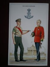 POSTCARD THE GREEN HOWARDS PROVOST SERGEANT & CAPTAIN BADGE/DRESS GEOFF WHITE -