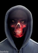 RED GRIM REAPER SCARY HALLOWEEN NOVELTY LYCRA FABRIC FACE MASK FANCY DRESS