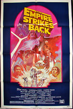 Original STAR WARS MOVIE POSTER THE EMPIRE STRIKES BACK R820180 27x41 1980