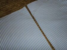 LINENS N THINGS (PAIR) STANDARD PILLOWCASES BLUE WHITE STRIPES 19 X 30 BOYS