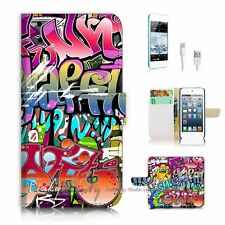iPod Touch 6 iTouch 6 Flip Wallet Case Cover! P1482 Graffiti