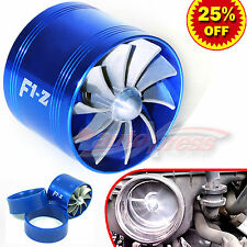 """For FORD 2.5-3.0"""" TURBO Supercharger AIR INTAKE TURBONATOR Fuel Saver Fan BLUE"""
