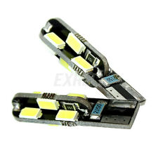 2 T10 Luci Retromarcia Laterali Auto 12 LED SMD5630 Bianco Canbus No Error DC12V