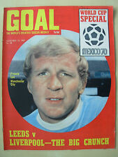 GOAL MAGAZINE NOVEMBER 22 1969 BRAZIL STARS - MANCHESTER CITY - WEST HAM