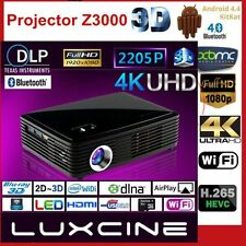 Luxcine Z3000 4K DLP 3D Bluray Wifi HD 2205P Android Home Theater Projector