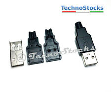 2x Connettore USB maschio Tipo A, Male USB Connector Socket